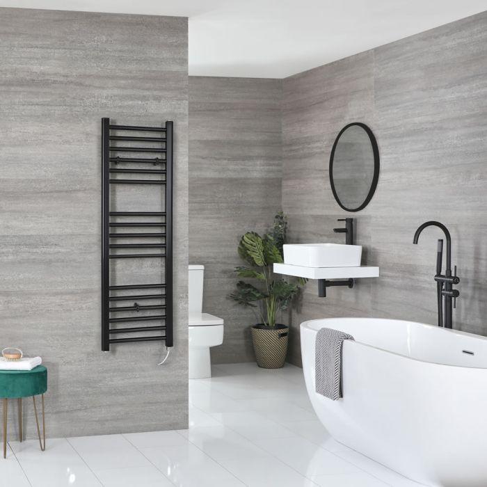 Sèche-serviettes électrique plat – Noir – 120 cm x 40 cm - Nox