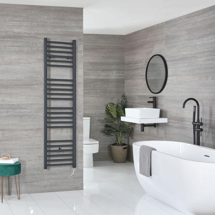 Sèche-serviettes électrique plat – Anthracite – 160 cm x 40 cm - Artle