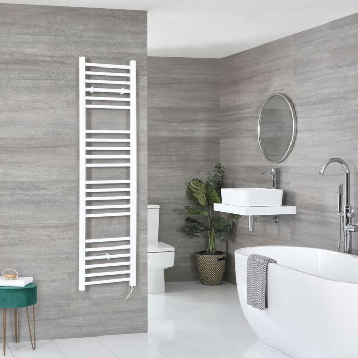 Sèche-serviettes électrique plat – Blanc – 160 cm x 40 cm – Ive