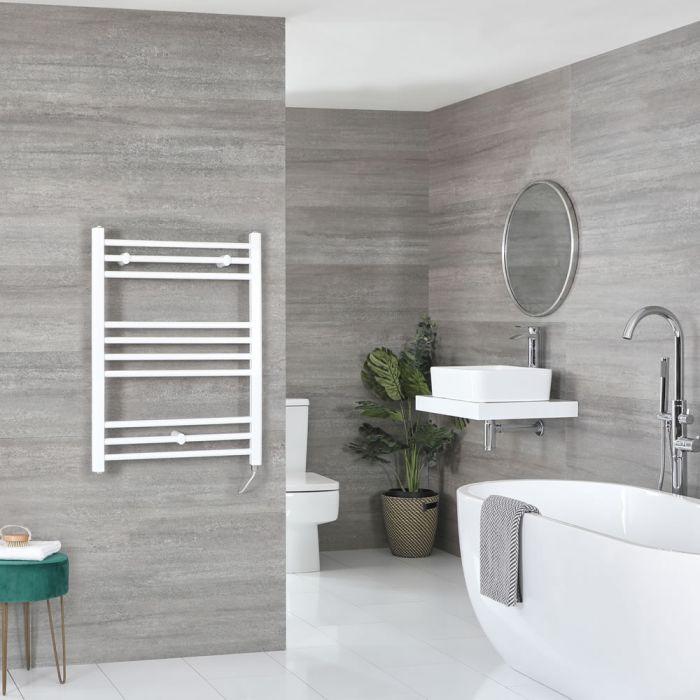Sèche-serviettes électrique plat – Blanc – 80 cm x 50 cm - Ive