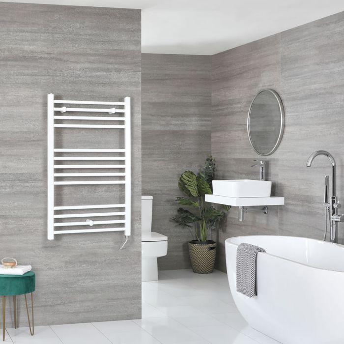 Sèche-serviettes électrique plat – Blanc – 100 cm x 50 cm - Ive