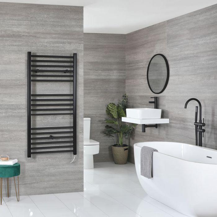 Sèche-serviettes électrique plat – Noir – 120 cm x 50 cm - Nox
