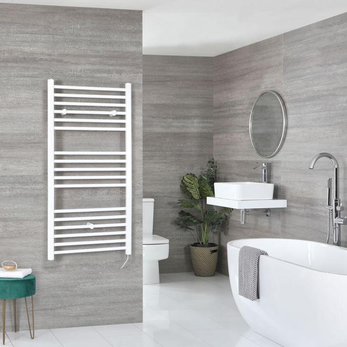 Sèche-serviettes électrique plat – Blanc – 120 cm x 50 cm - Ive