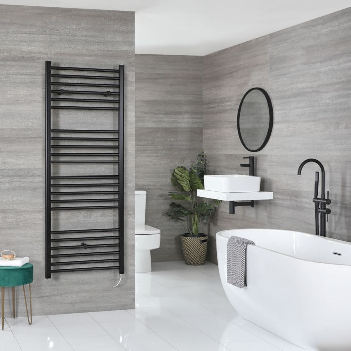 Sèche-serviettes électrique plat – Noir – 160 cm x 50 cm - Nox