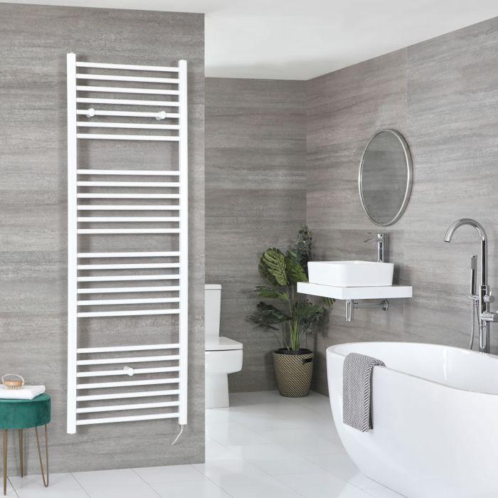 Sèche-serviettes électrique incurvé – Blanc – Choix de tailles et élément chauffant  - Ive