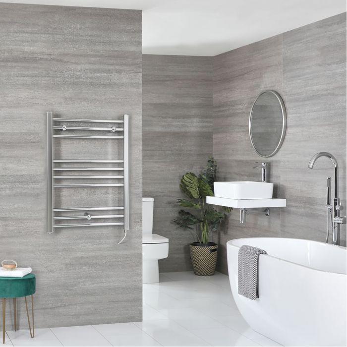 Sèche-serviettes électrique plat – Chromé – 80 cm x 60 cm - Kent