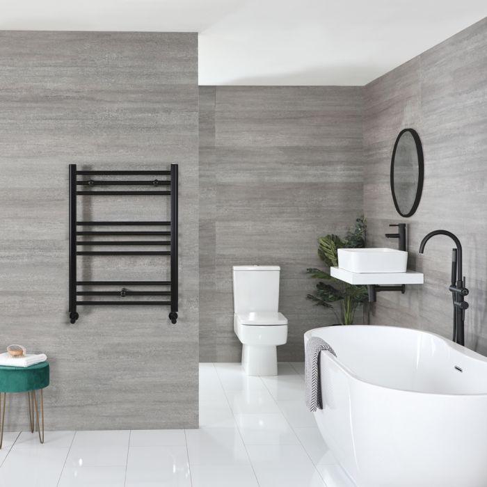 Sèche-serviettes plat – Noir mat – 80 cm x 60 cm - Nox