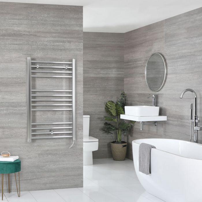 Sèche-serviettes électrique plat – Chromé – 100 cm x 60 cm - Kent