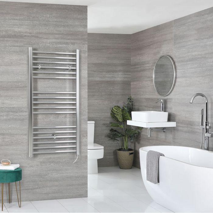 Sèche-serviettes électrique plat – Chromé – 120 cm x 60 cm - Kent