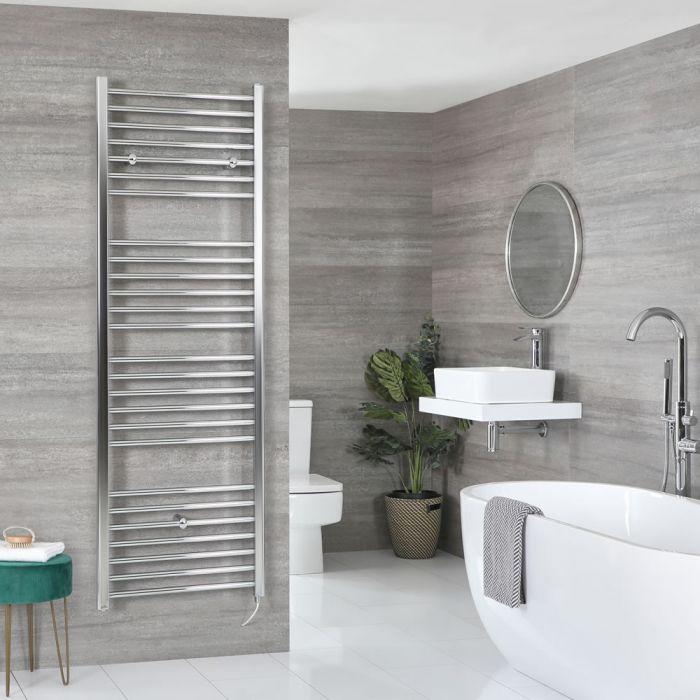 Sèche-serviettes électrique plat – Chromé – 180 cm x 60 cm - Kent
