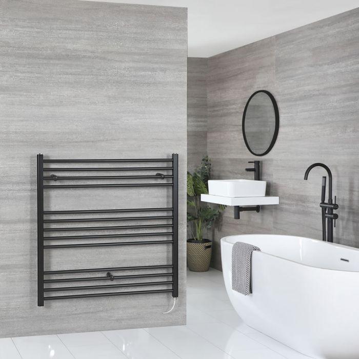 Sèche-serviettes électrique plat – Noir – 100 cm x 100 cm - Nox