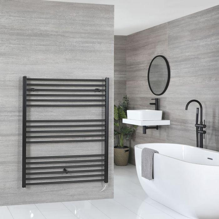 Sèche-serviettes électrique plat – Noir – 120 cm x 100 cm - Nox