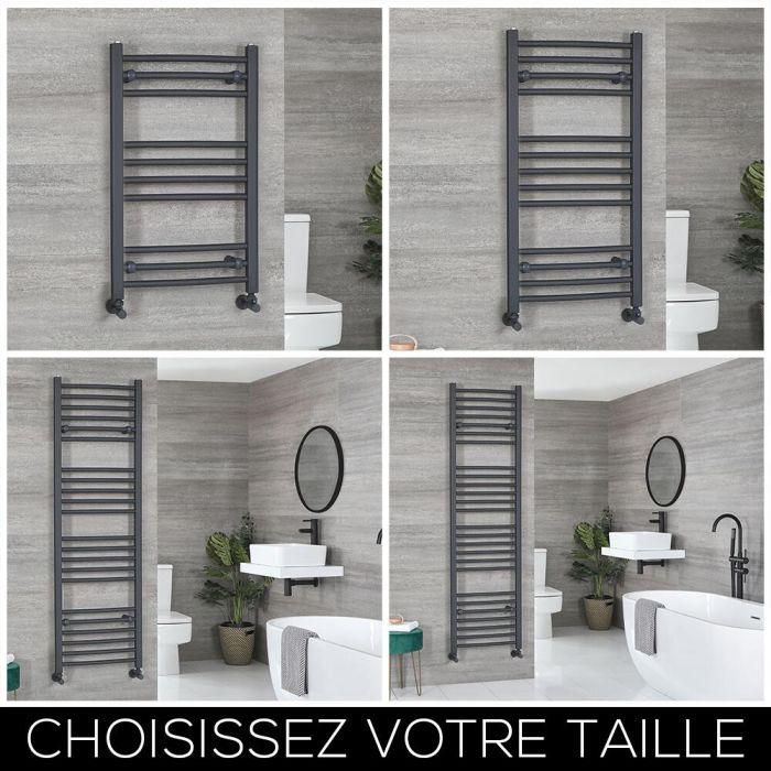 Sèche-serviettes plat – Anthracite – Choix de tailles – Artle
