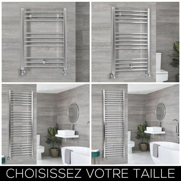 Sèche-serviettes plat – Chromé – Choix de tailles – Kent
