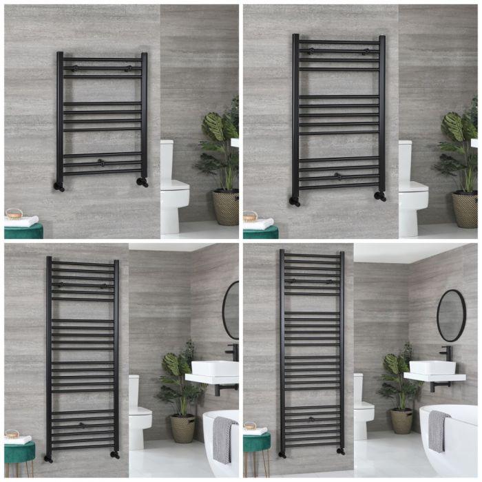Sèche-serviettes plat – Noir – Choix de tailles – Nox