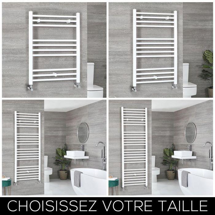 Sèche-serviettes plat – Blanc – Choix de tailles - Ive