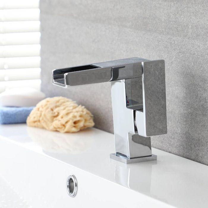 Mitigeur lavabo monotrou avec LED – Bec verseur cascade – Select