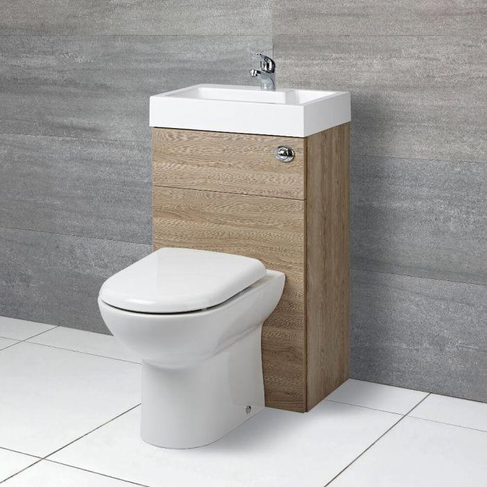 Ensemble WC et lave-main – Chêne – 50 cm x 89 cm - Cluo