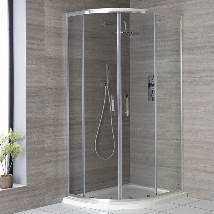 Cabine de douche quart de cercle avec receveur – Choix de tailles - Portland