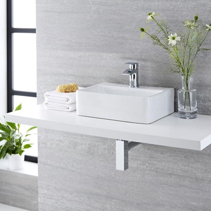 Vasque à poser rectangulaire - 40 x 29,5 cm - Exton