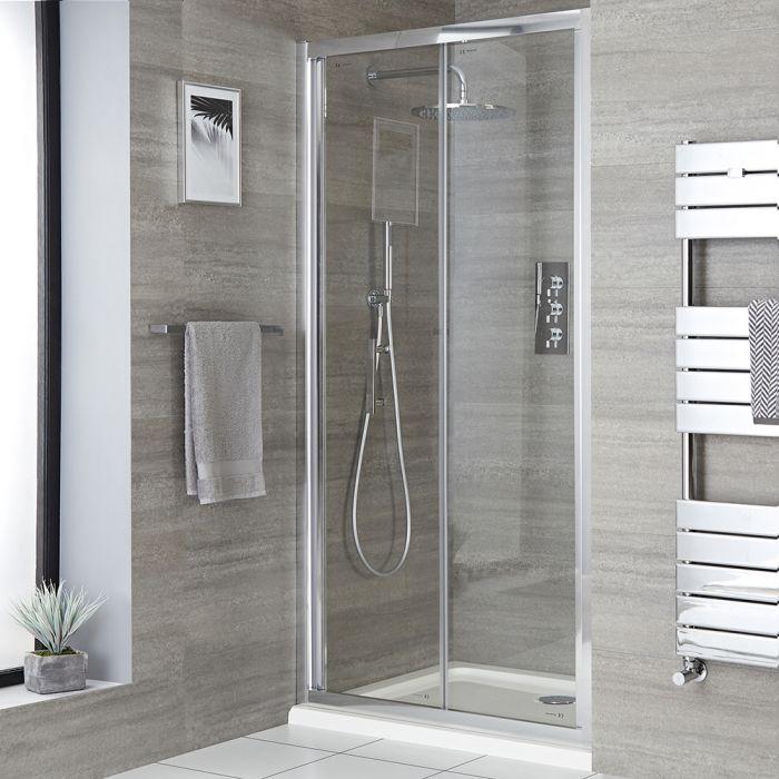 Porte de douche pliante avec receveur – Tailles multiples - Portland