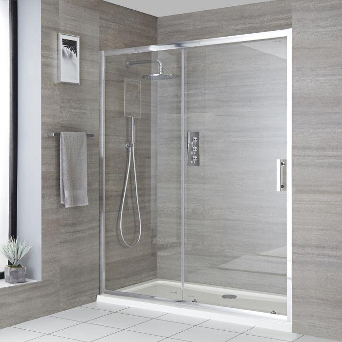 Porte de douche coulissante avec receveur – Tailles multiples - Portland