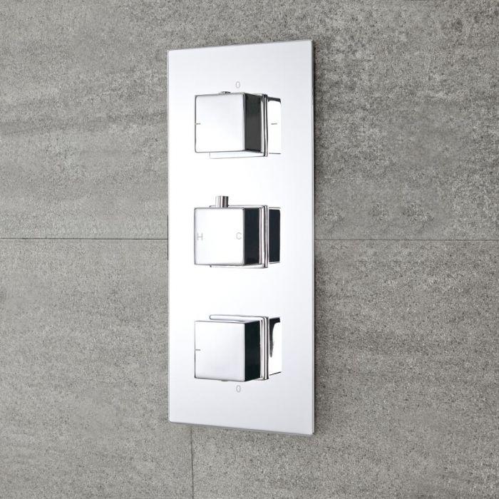 Mitigeur Douche Thermostatique Encastrable, Design Cubique - Kubix