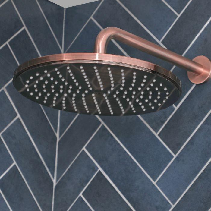 Pommeau de douche rond moderne – Ø30 cm – Cuivre brossé – Amara