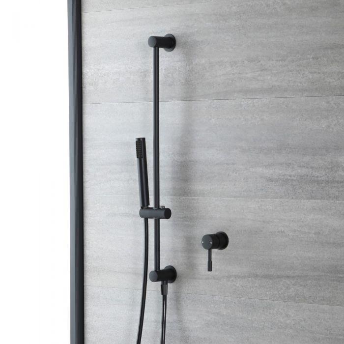Kit de douche mécanique - Mitigeur - Kit douchette sur rampe – Noir - Nox