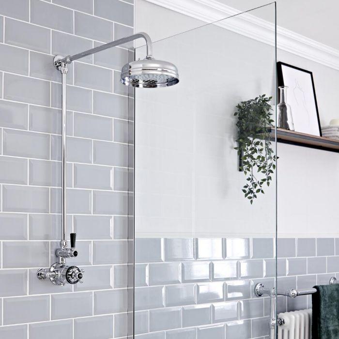 Colonne de douche rétro (sans robinetterie) – Chromé - Elizabeth