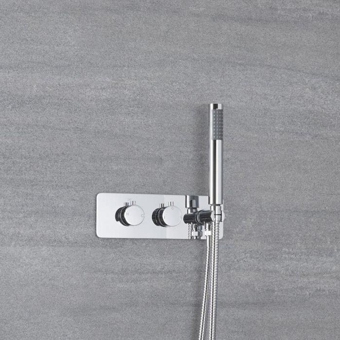 Mitigeur de douche thermostatique avec inverseur – Avec douchette – Chromé - Como
