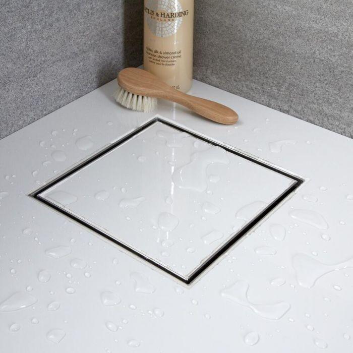 Caniveau de douche à carreler – Acier inoxydable - Carré