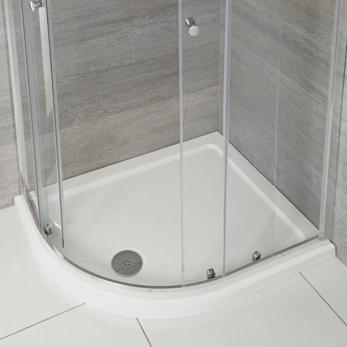 Receveur de douche quart de rond à profil bas – Angle gauche – 120 cm x 90 cm - Maxon