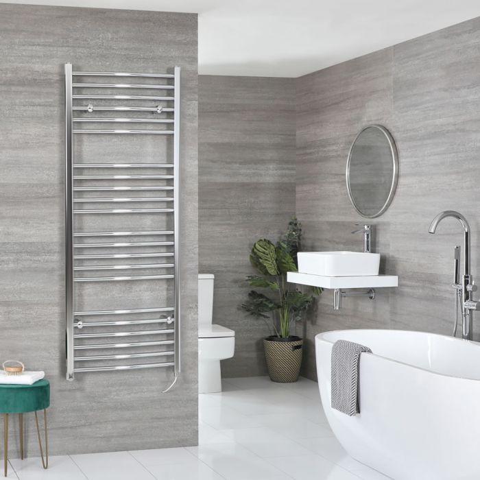 Sèche-serviettes électrique incurvé – Chromé – Choix de tailles et élément chauffant - Kent