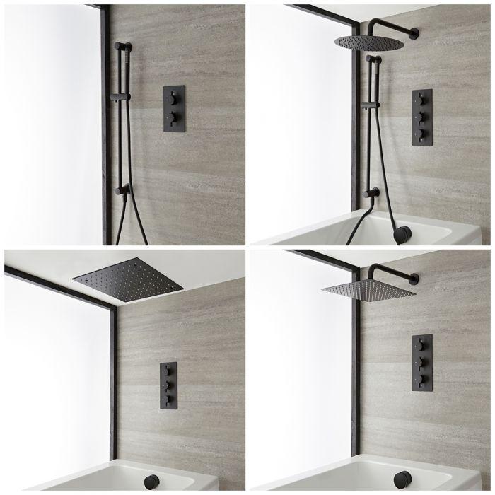 Kit de bain-douche thermostatique – Noir – Choix de fonctions - Nox