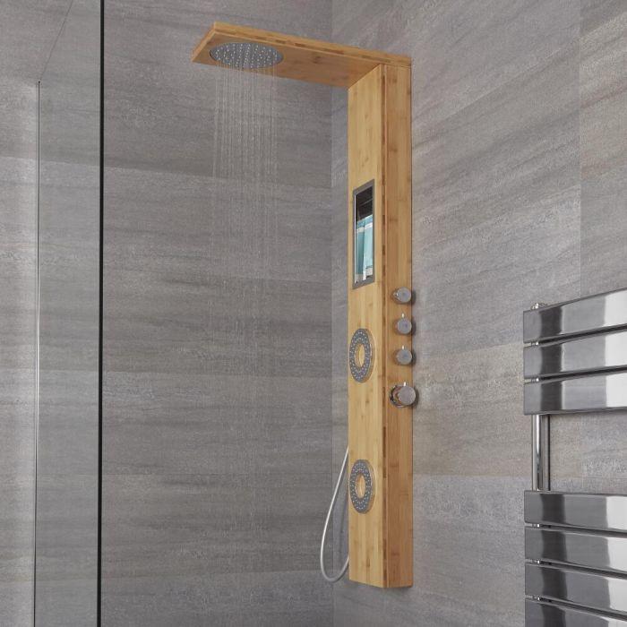 Colonne de douche thermostatique - Bambou - Lako