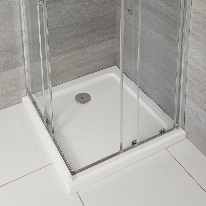 Receveur de douche carré à profil bas – 90 cm - Maxon