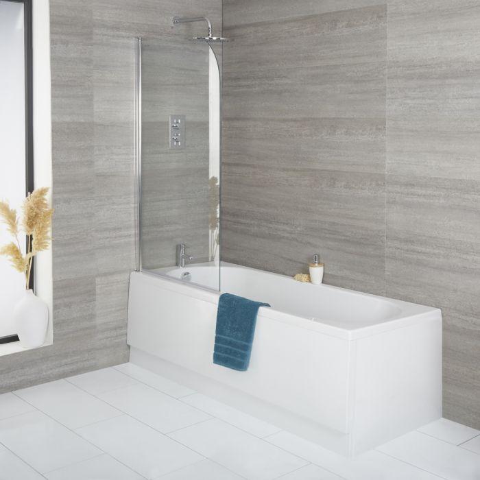 Baignoire rectangulaire avec pare baignoire et tablier frontal – Choix de tailles - Covelly