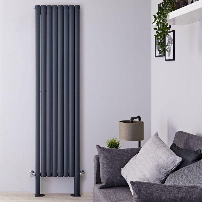 Radiateur design vertical – Anthracite – 200 cm x 47,2 cm – Double panneaux – Vitality Plus