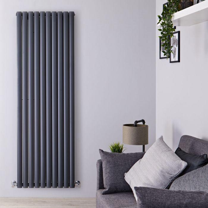 Radiateur design vertical – Anthracite – 178 cm x 59 cm – Double rangs - Vitality
