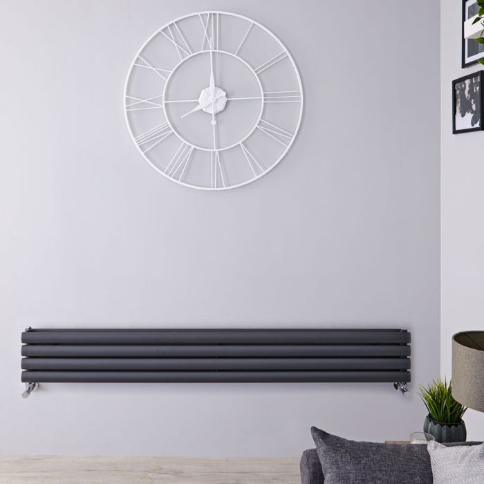 Radiateur Design Horizontal Anthracite Vitality 23,6cm x 178cm x 7,8cm 921 Watts