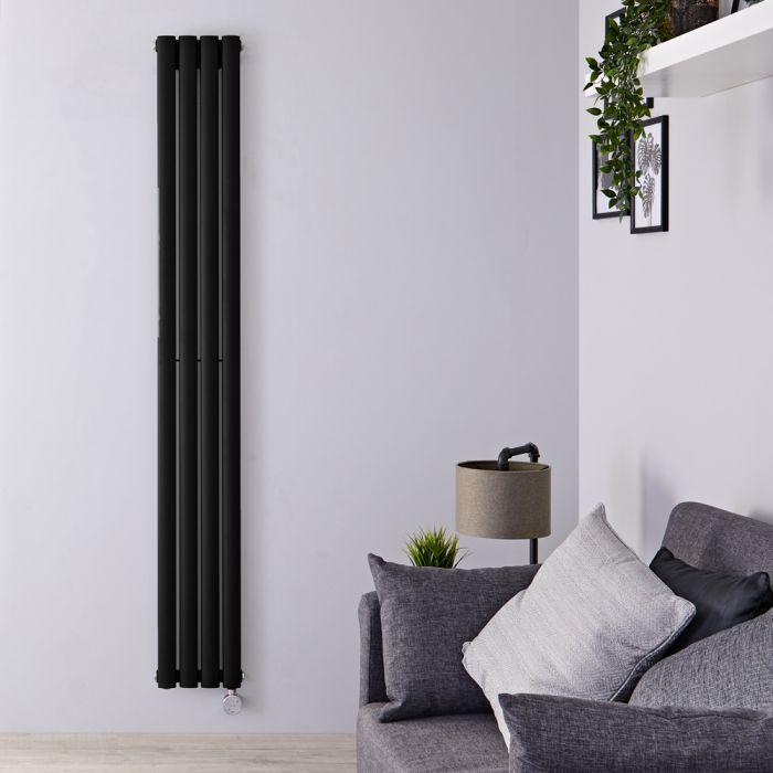 Radiateur design électrique vertical – Noir – 178 cm x 23,6 cm x 5,6 cm - Vitality