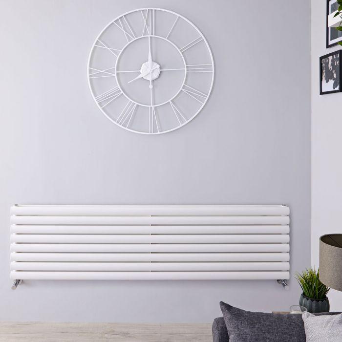 Radiateur Design Horizontal Blanc Vitality 47,2cm x 178cm x 7,8cm 1798 Watts
