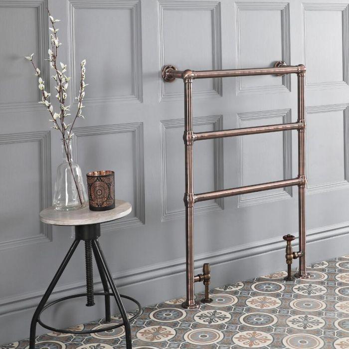 Sèche-serviettes rétro – 96,6 cm x 67,3 cm – Bronze huilé – Condesa