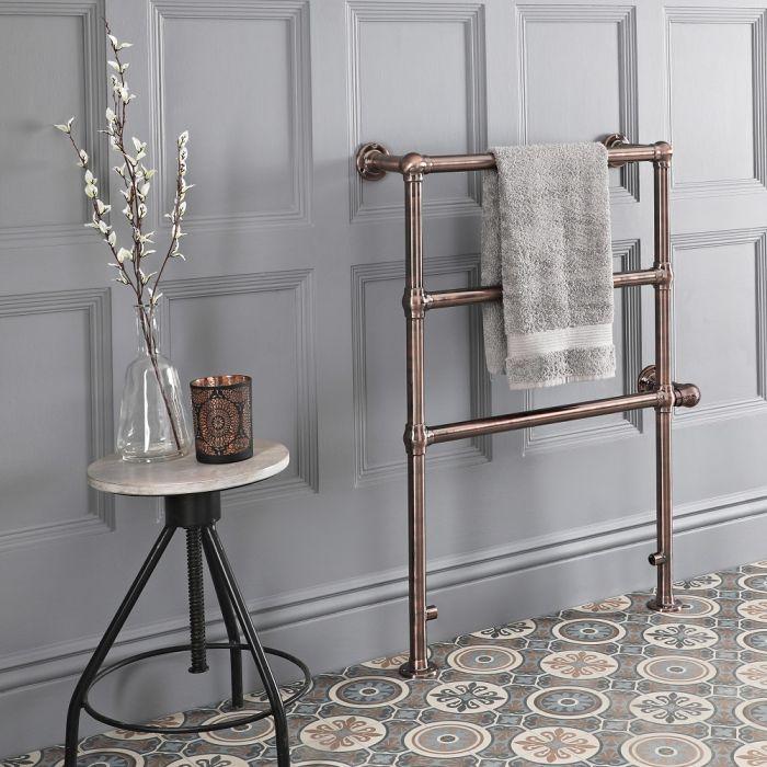 Sèche-serviettes électrique rétro – 96,6 cm x 67,3 cm – Bronze huilé – Condesa
