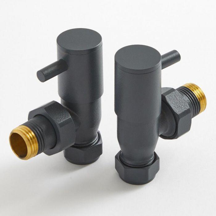 Robinets de radiateur d'angle modernes - Anthracite