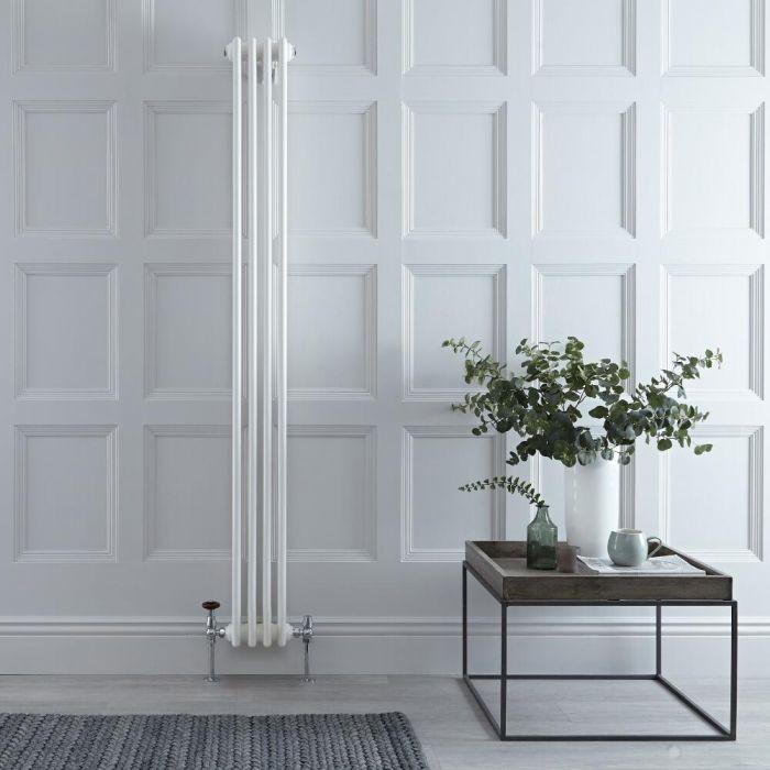 Radiateur Vertical Style Fonte Blanc Windsor 180cm x 20cm x 10cm 779 Watts