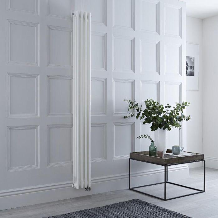 Radiateur électrique vertical style fonte triple rang – Blanc – 180 cm x 20 cm - Windsor