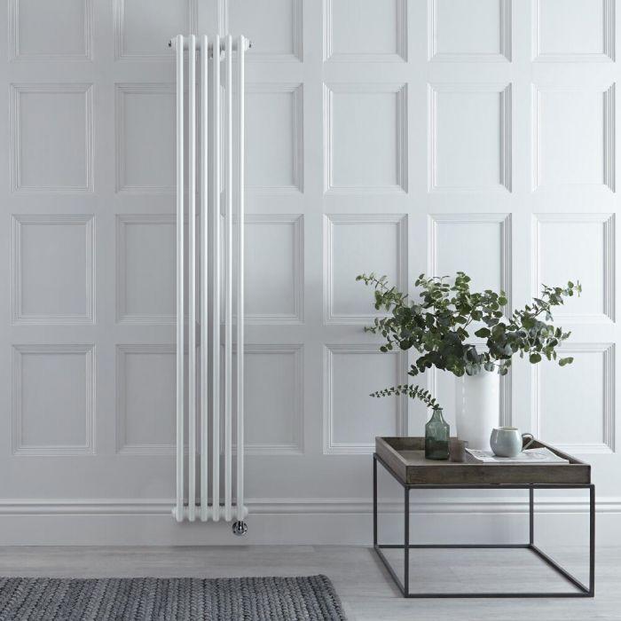 Radiateur électrique vertical style fonte triple rang – Blanc – 180 cm x 29 cm - Windsor