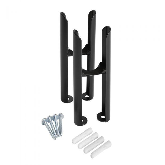 Pieds de radiateur pour radiateurs rétro à double rangs de colonnes – Noir - Windsor